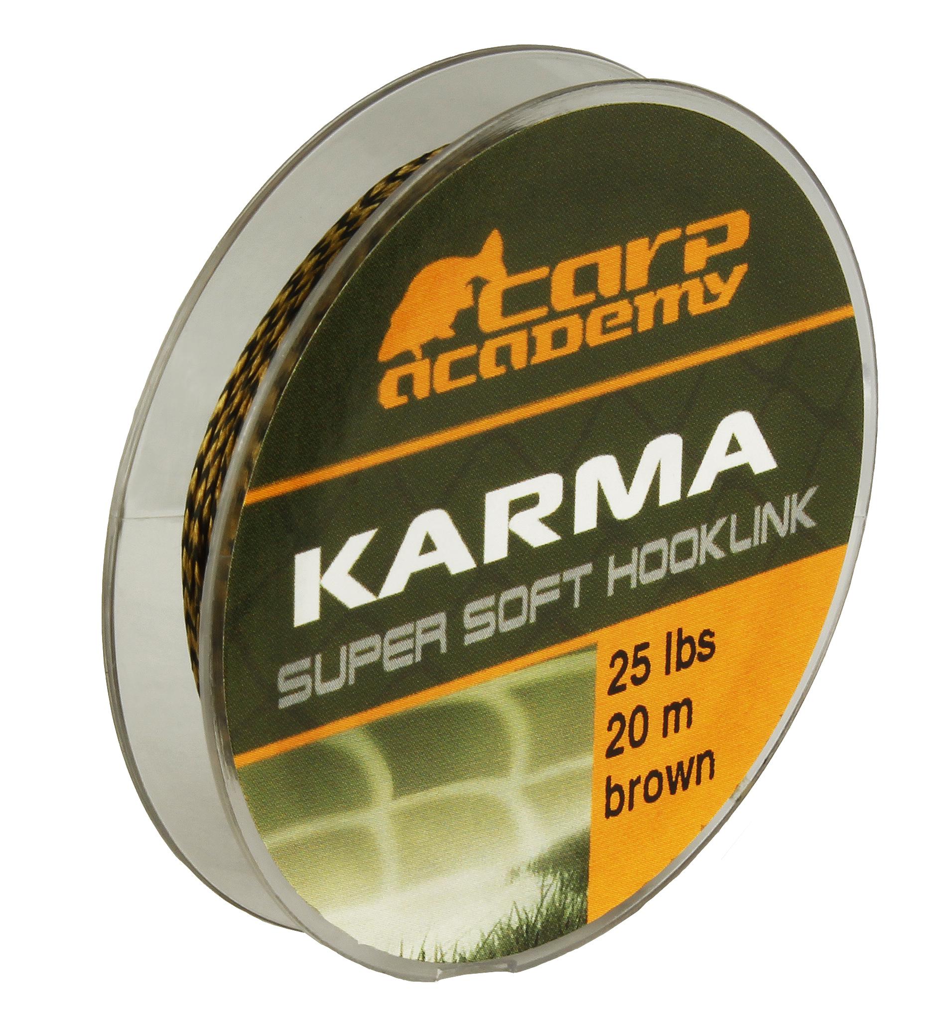 Karma Hooklink 20m 25lb Brown
