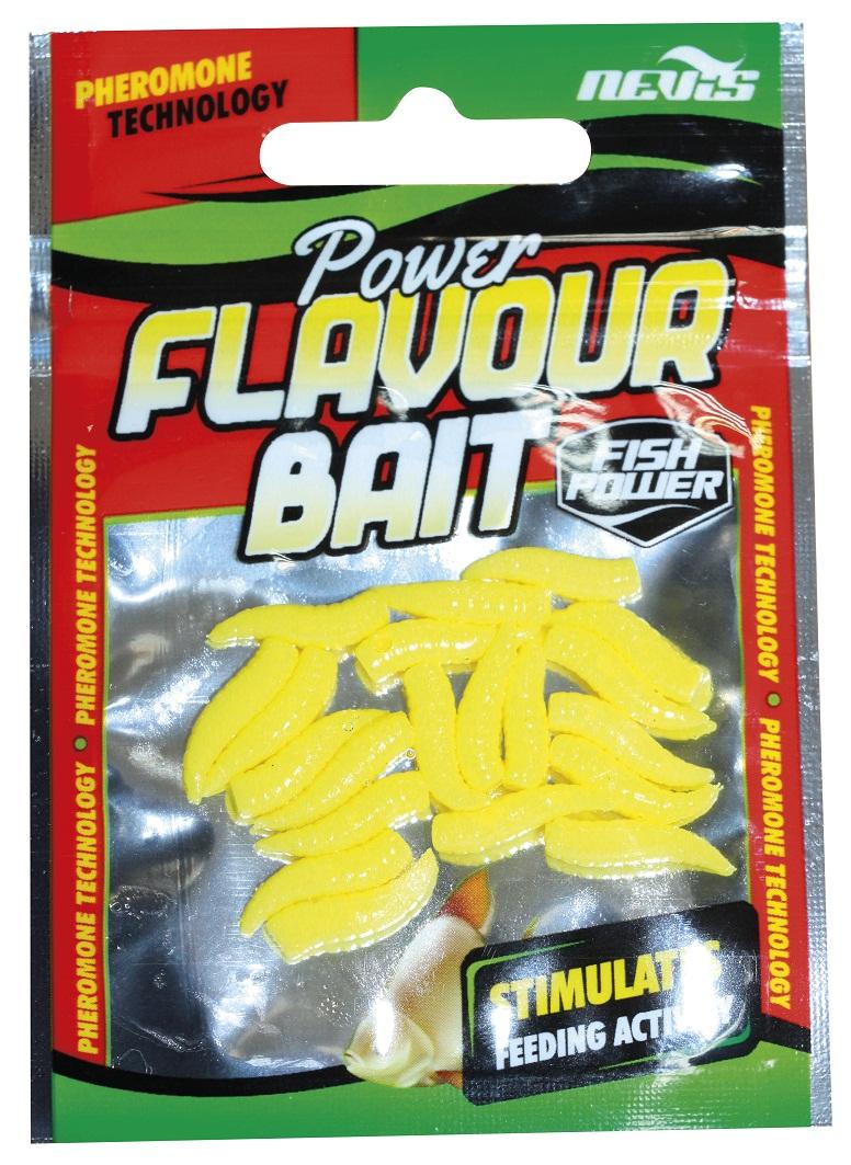 Power Maggot Lebegõ csonti 1,5cm 20db/cs  /sárga, vanília/
