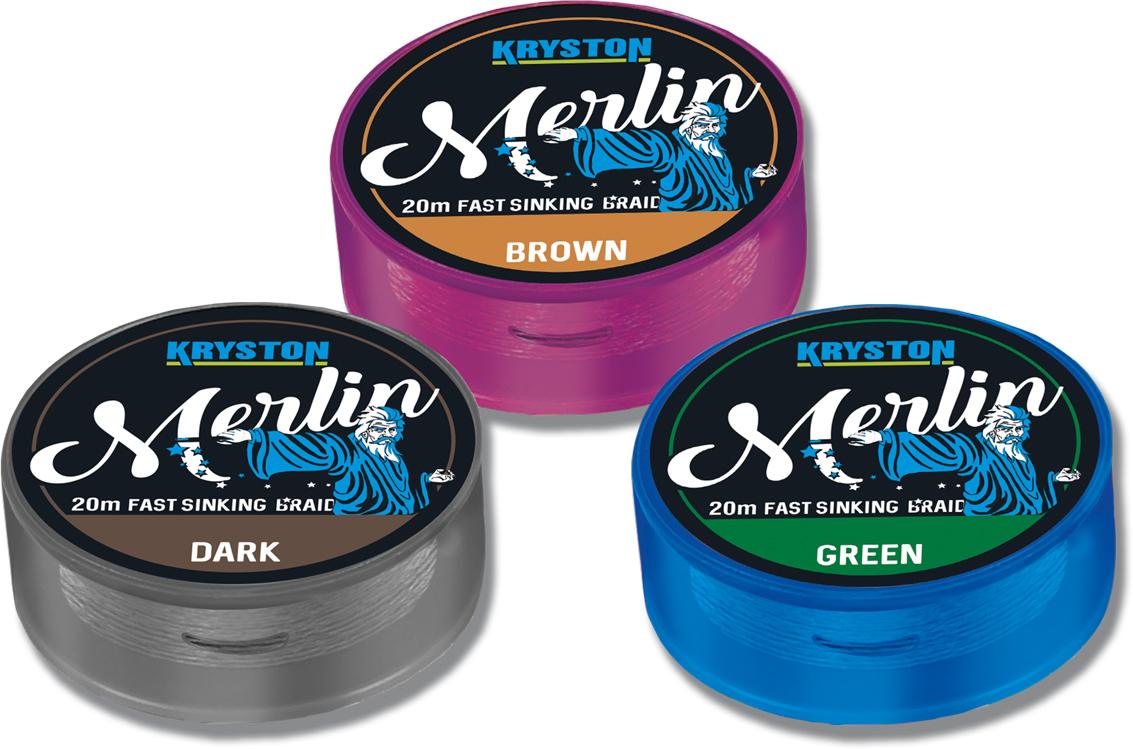 Merlin Fast Sinking Supple Braid 15Lbs 20m Dark Silt