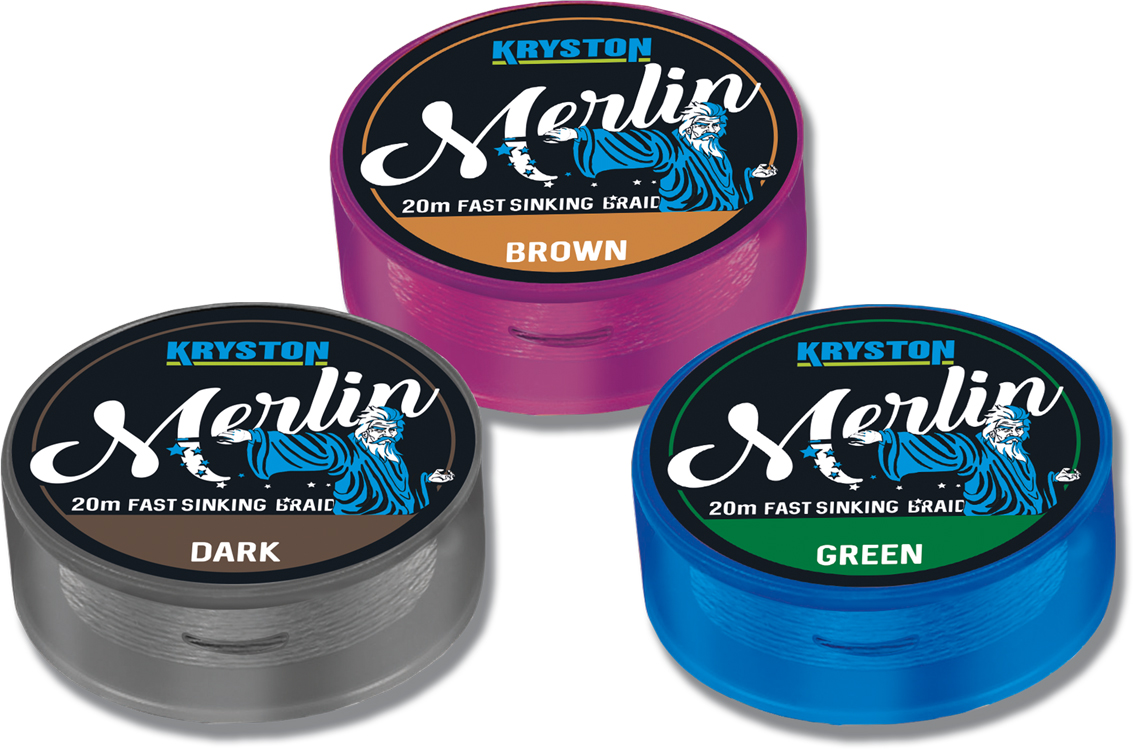 Merlin Fast Sinking Supple Braid 15Lbs 20m  Green