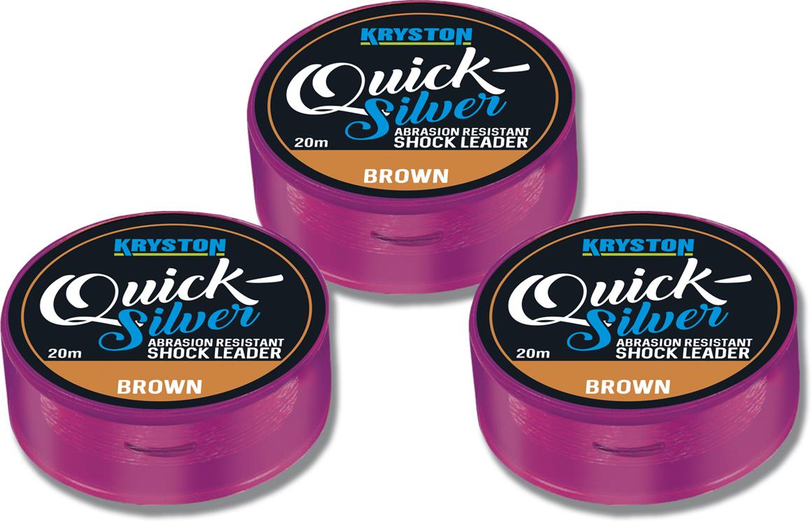 Quicksilver Shock Leader 35lbs 20m Brown