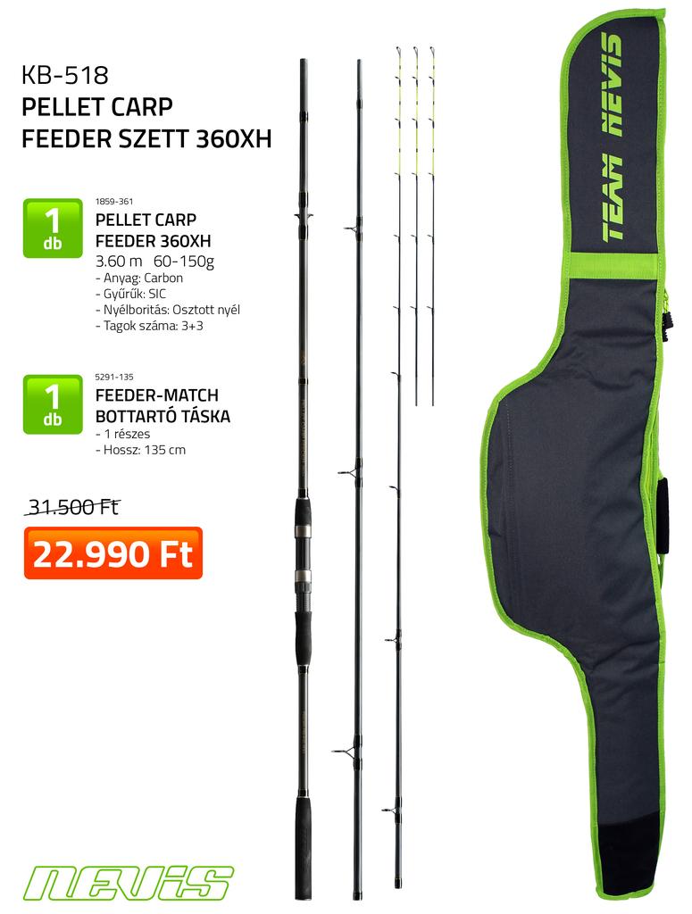 Pellet Carp Feeder szett 360XH  1859-361+ 5291-135