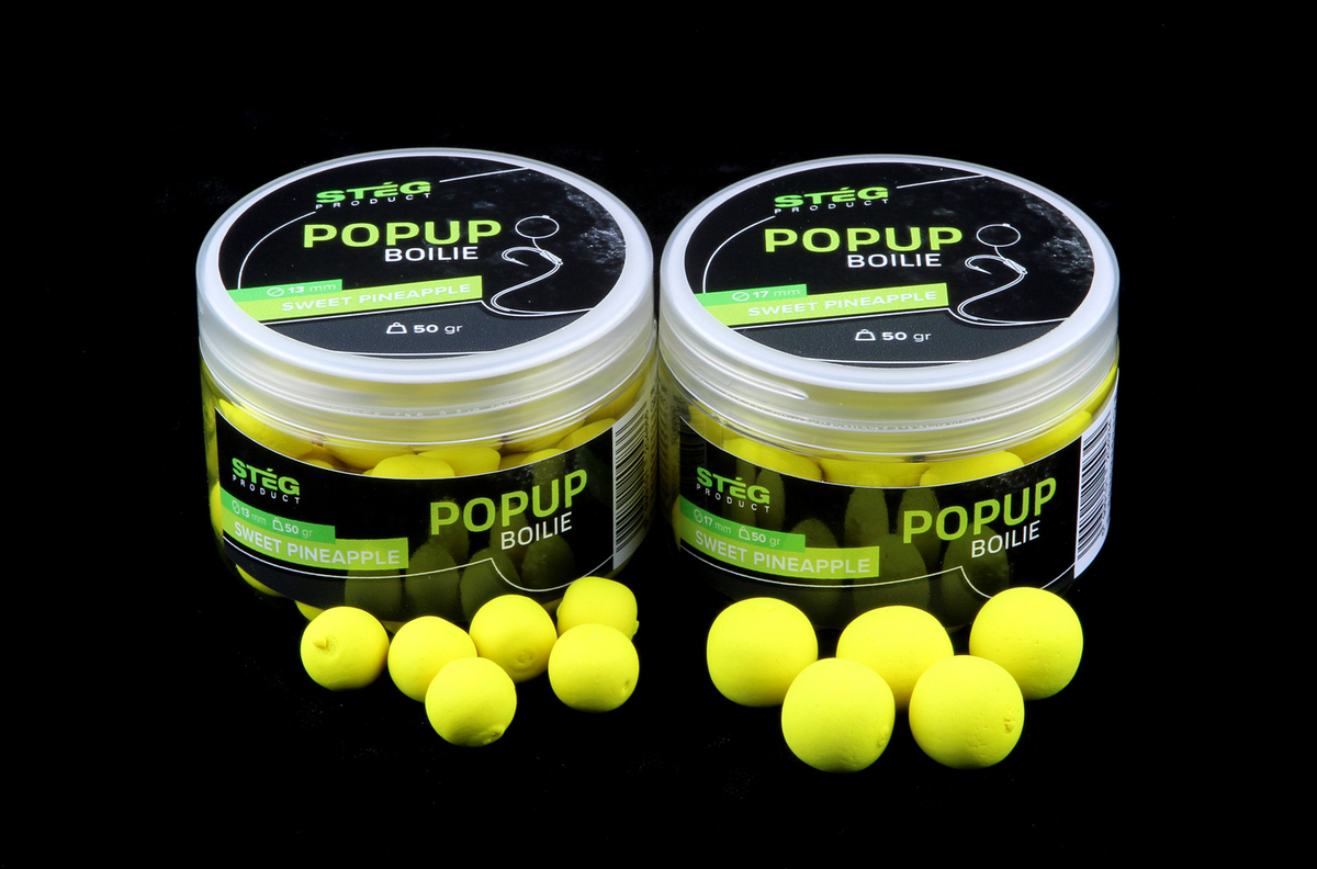Stég Product Pop Up Boilie 17mm  SWEET PINEAPPLE 50gr