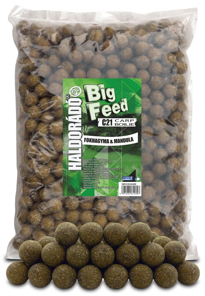 Big Feed - C21 Boilie - Fokhagyma & Mandula 2500 g