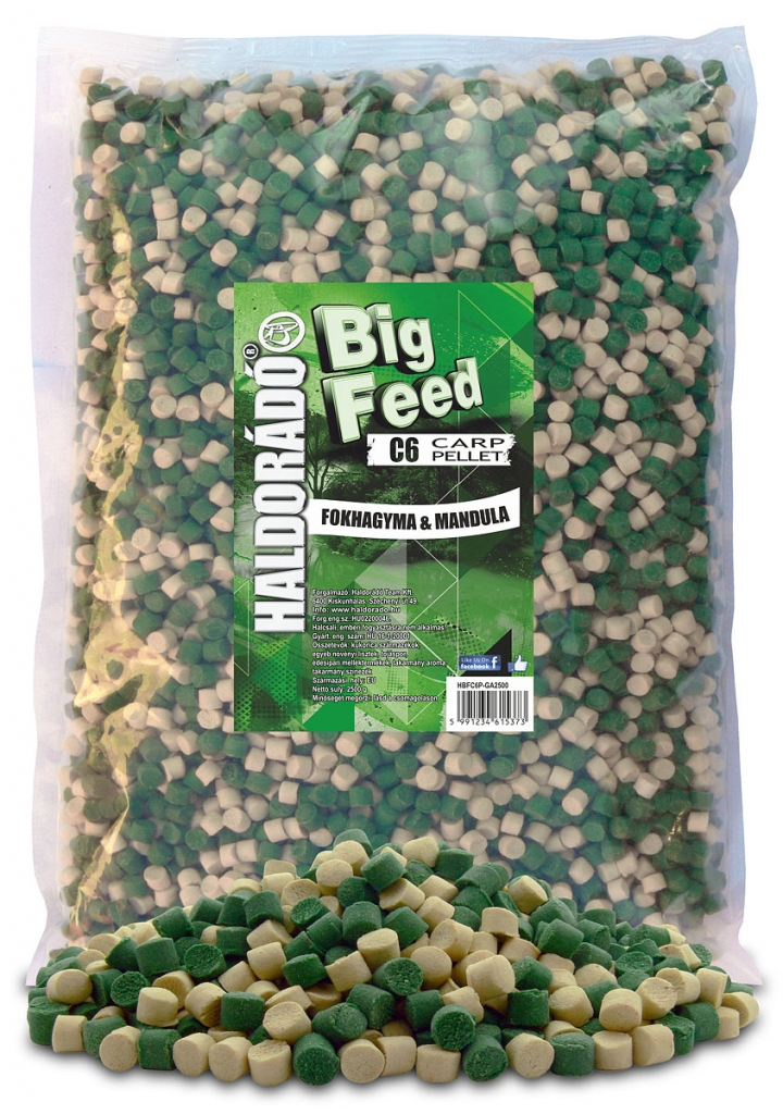Big Feed - C6 Pellet - Fokhagyma & Mandula 2500 g