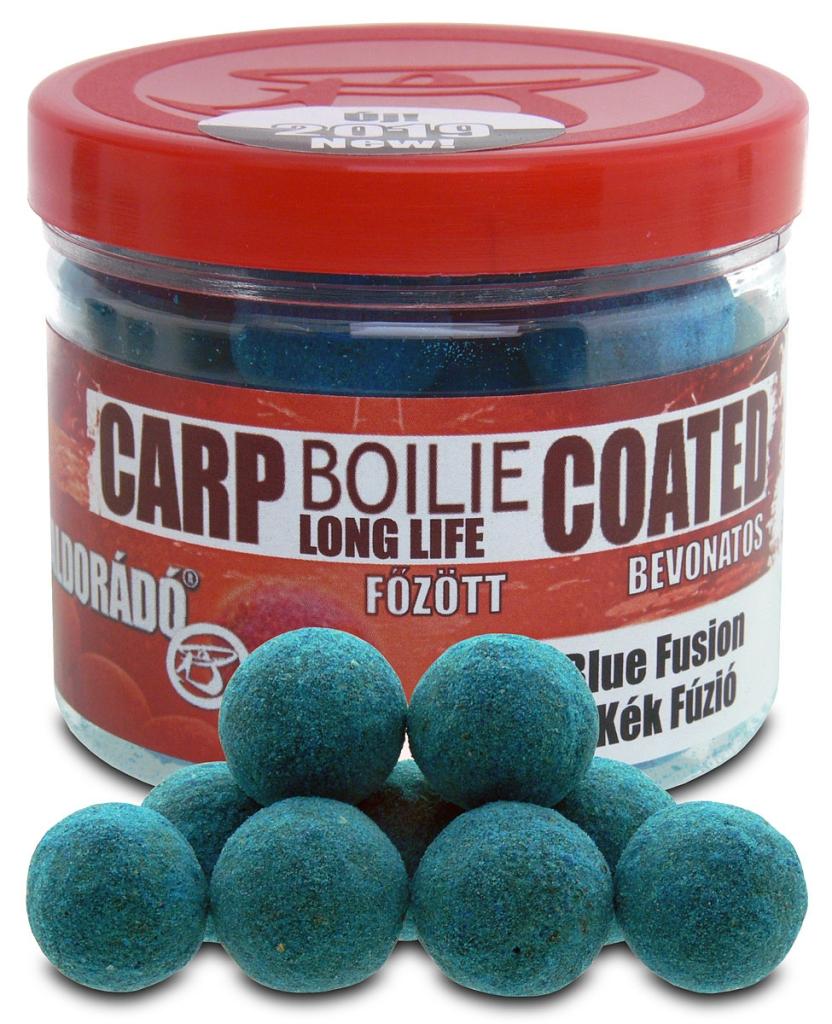Bevonatos fõzött csalizó bojli - Kék Fúzió 18 mm