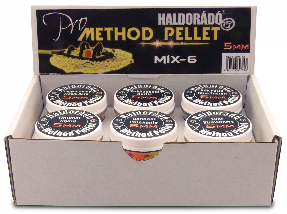 Pro Method Pellet 5 mm - MIX-6 /  6 íz egy dobozban
