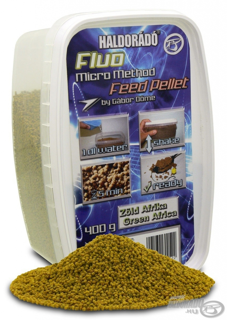 Fluo Micro Method Feed Pellet - Zöld Afrika