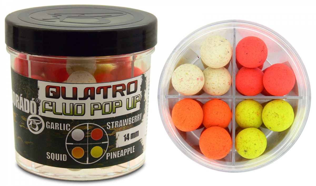 Quatro Fluo Pop Up Boilies 14 mm