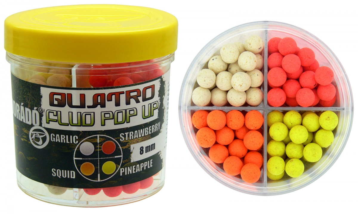 Quatro Fluo Pop Up Boilies 8 mm