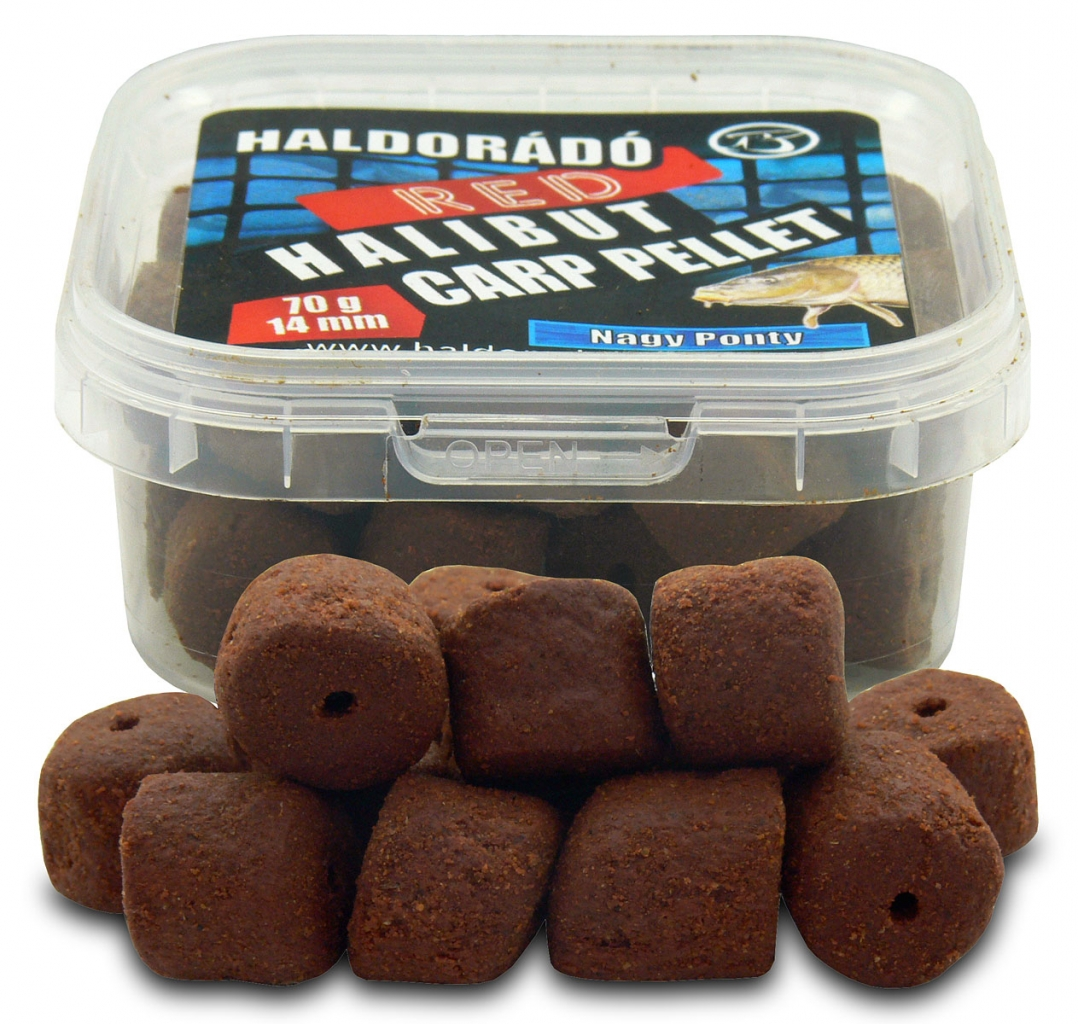 Red Halibut Carp Pellet 14 mm - Nagy Ponty