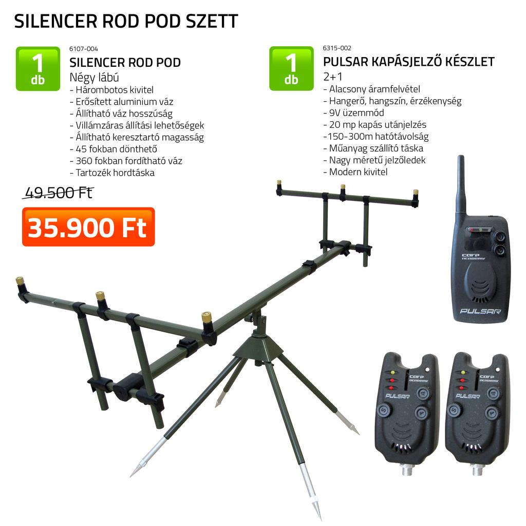 Silencer Rod Pod szett  6107-004+ 6315-002